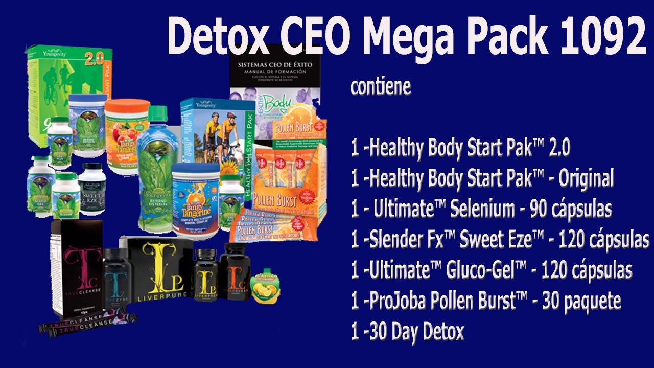 youngevity - Detox CEO Mega Pack 1092 - YouTube