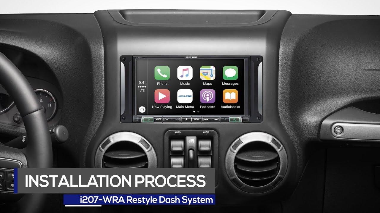 Alpine 7 Inch I207 Wra Restyle Dash Installation