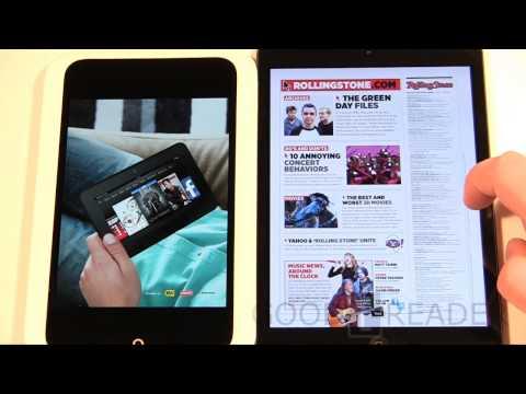 Nook HD vs iPad Mini Comparison