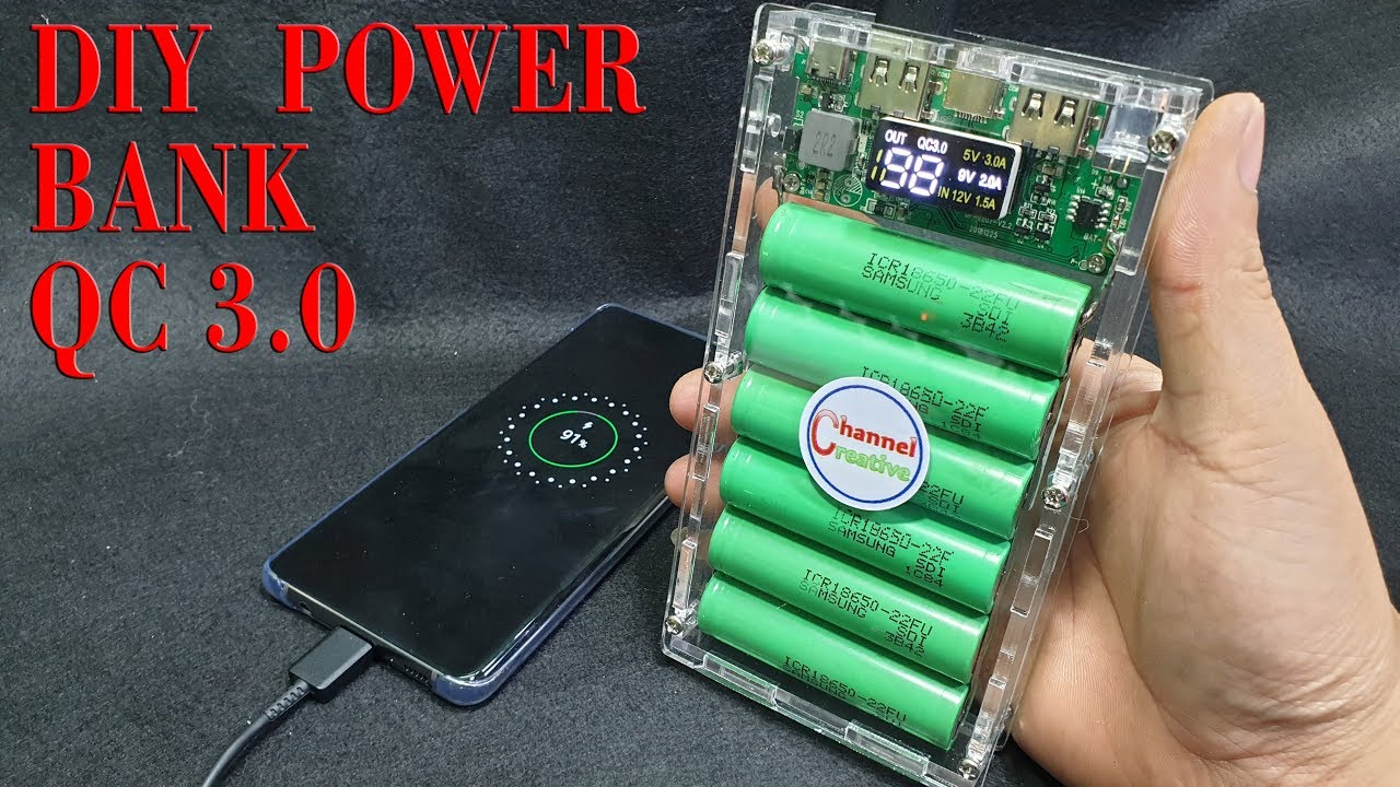 Diy Power Bank Build A Power Bank Quick Charge 3 From Old Laptop Battery