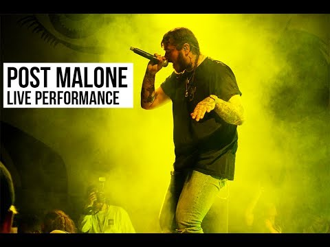 Watch Post Malone Perform White Iverson In Montreal || Mural Festival