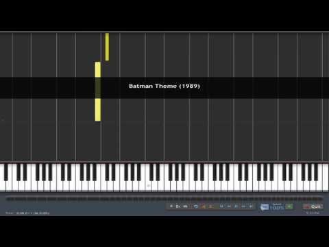 (How to Play) Batman Theme (1989) Piano Tutorial  - Synthesia