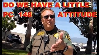 First Amendment Test Detained And Questioned By Orange County Sheriff @ Saddleback Station