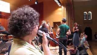 Janine & Sarah call Dual Contradances at Contrastock 3 2013-09-22 (Big Band 2 of 3)