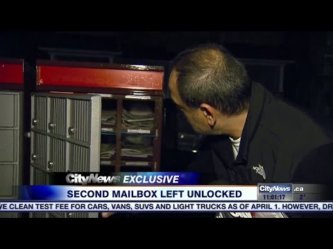 Video: Another Canada Post community mailbox left unlocked i