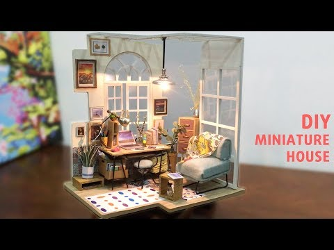 DIY Miniature House - Working Room from RoboTime Kit