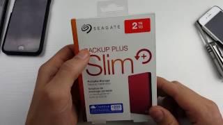 Seagate Backup Slim Portable Hard Drive Unboxing