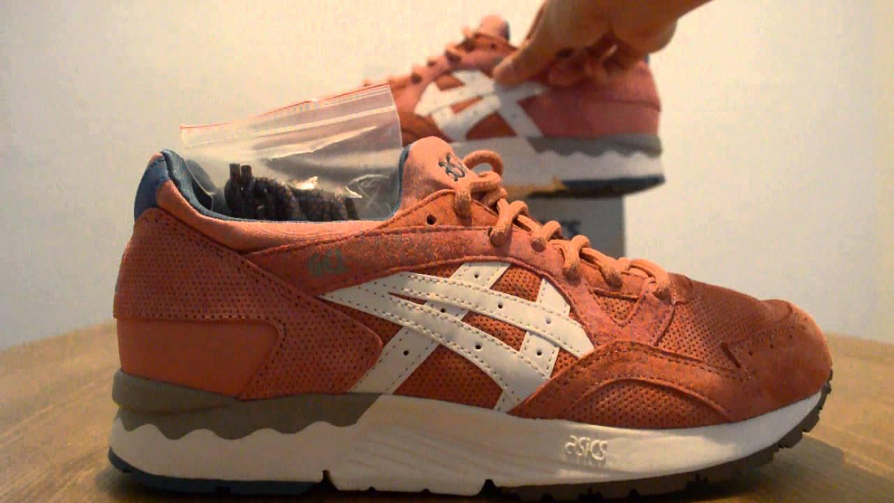 ... KITH x Asics Gel Lyte V Rose Gold Sneaker Detail