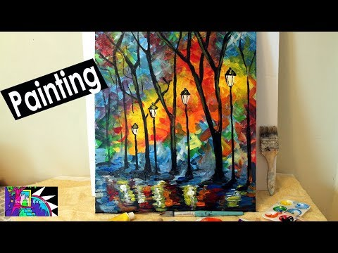 How to Paint a Colorful Abstract Landscape