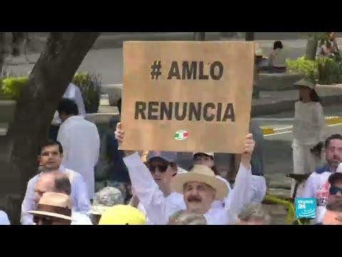 Miles de mexicanos se manifestaron en contra de Andrés Manuel López Obrador