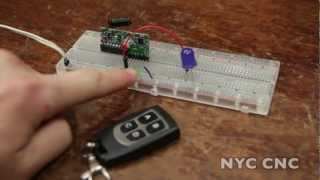 اللاسلكية RF Remote & المتلقي! سهلة ورخيصة! كبيرة ل Arduino و Raspberry Pi!