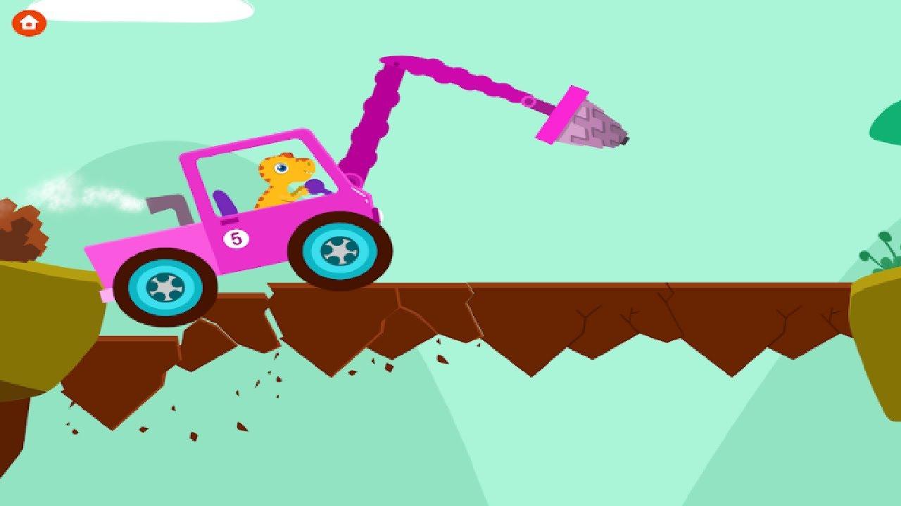 Digger Cartoons for Children. Dinosaur Digger - Car ...