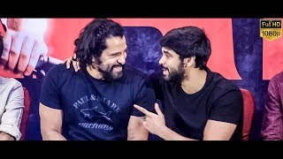 Chiyaan Vikram Super Fun Candid Moments With his Son Dhruv – Adithya Varma Thanks Giving Meet
