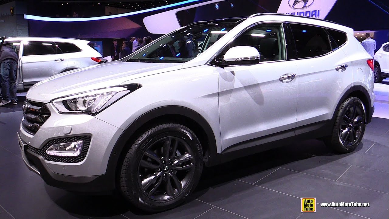 2015 hyundai santa fe 2 2 crdi diesel 4wd exterior interior walkaround 2015 geneva motor. Black Bedroom Furniture Sets. Home Design Ideas