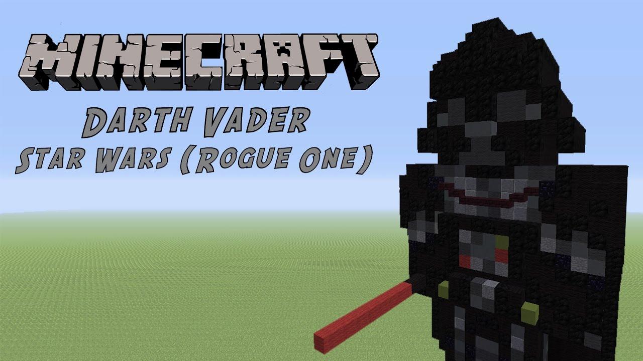 Minecraft Tutorial Darth Vader Star Wars Statue By Gummy