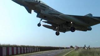 Awesome Typhoon Jet Skims People