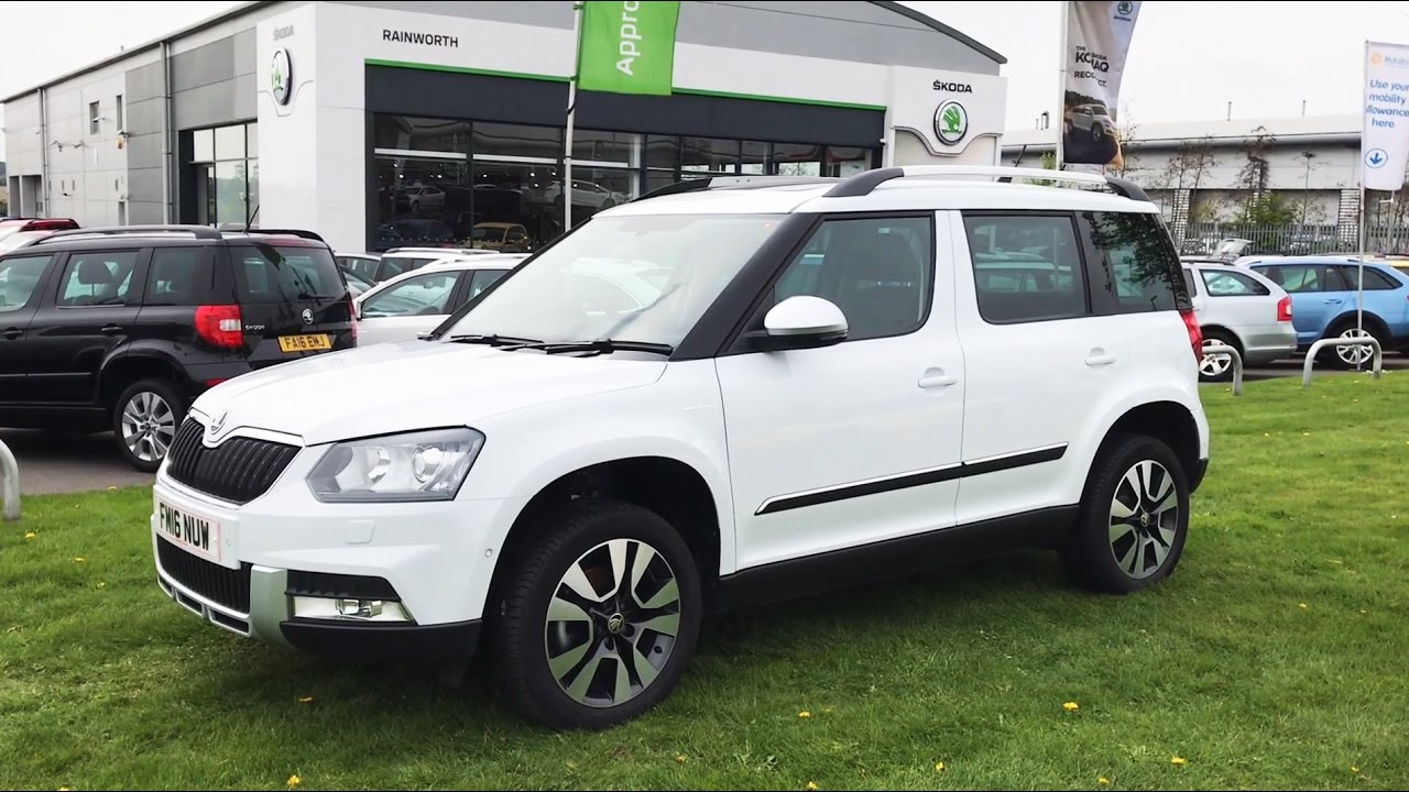 Skoda Yeti Outdoor L K In Moon White 2016 16 Reg Hd Youtube