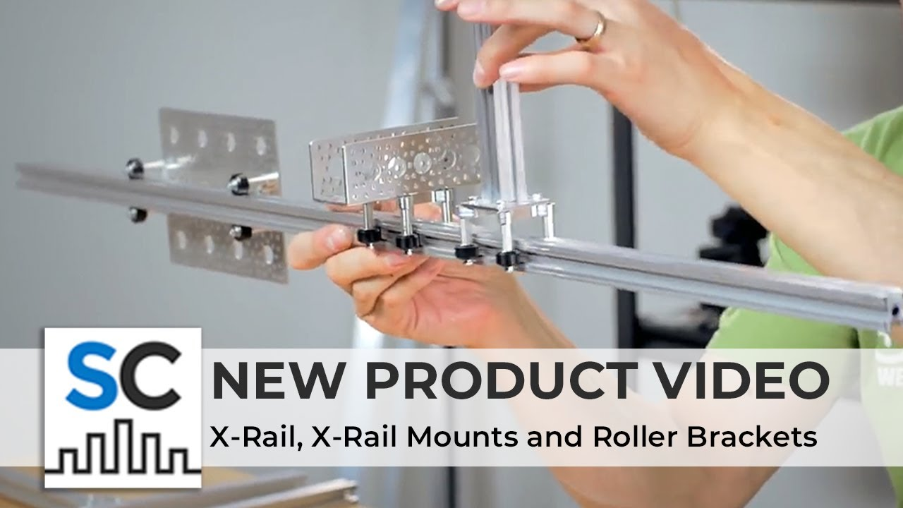 ServoCity Products: X-Rail + X-Rail Mounts and Roller Brackets