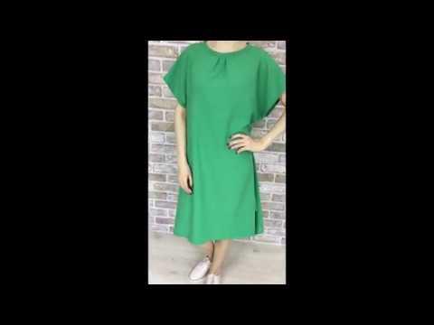 """Linen Dress +plus """"Summer LILAC Green"""""""