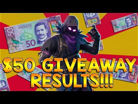 $50 GIVEAWAY RESULTS LIVE!! + FORTNITE
