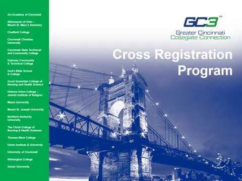 GC3 Cross-Registration Program - Full Video (8:27)