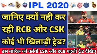 IPL 2020 - Why CSK And RCB Not Doing Any Trade || IPL Trade || DC and RR Trade