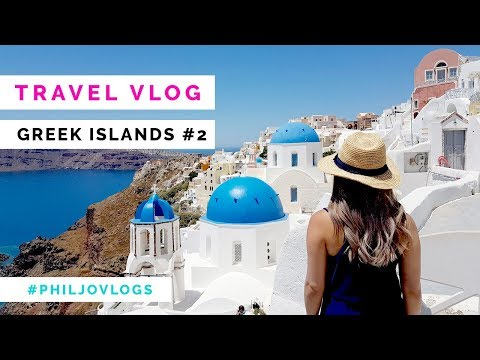 TRAVEL VLOG - Santorini & where to eat the best seafood