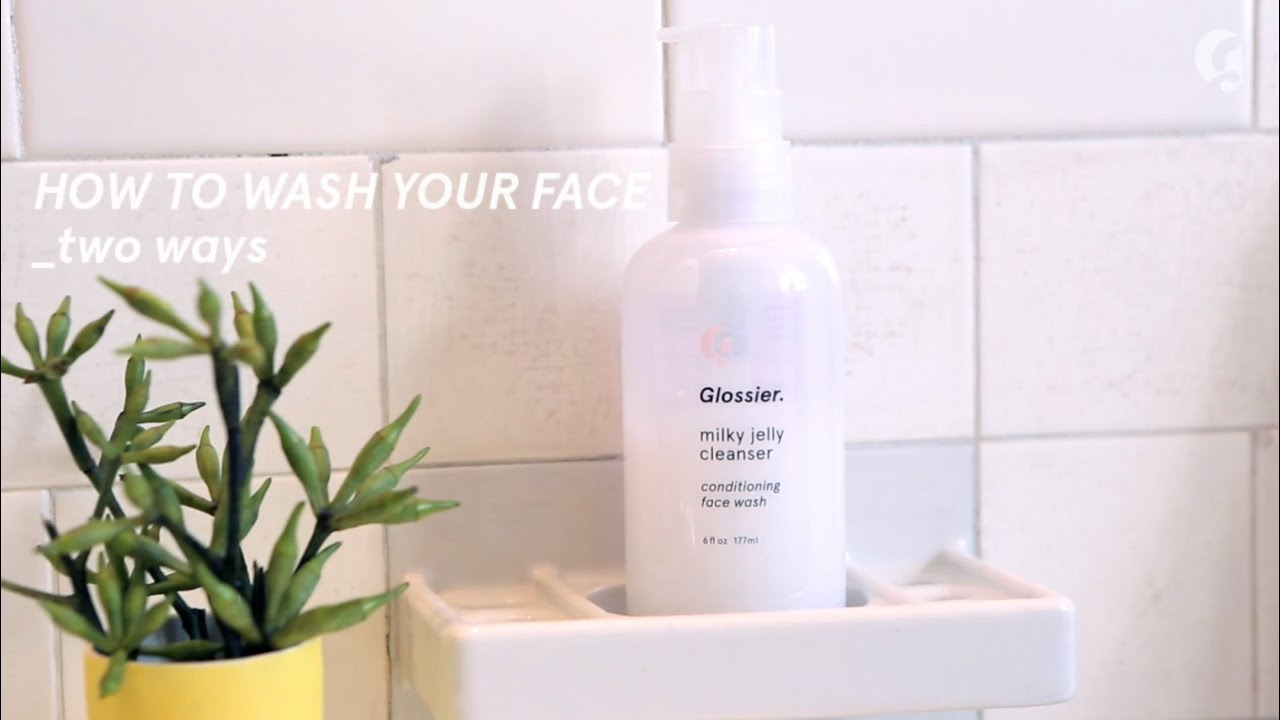 How To Glossier Milky Jelly Cleanser Youtube