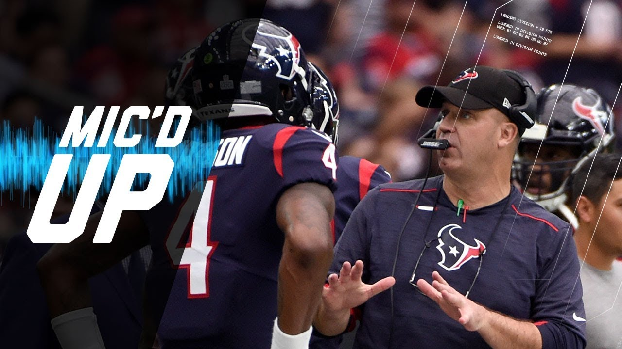 Bill O'Brien Mic'd Up Coaching Deshaun Watson vs. Browns | NFL Films | Sound FX