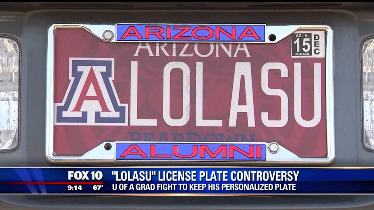 Arizona Personalized Plates >> Uofa Grad Fights To Keep His Lolasu Vanity Plate