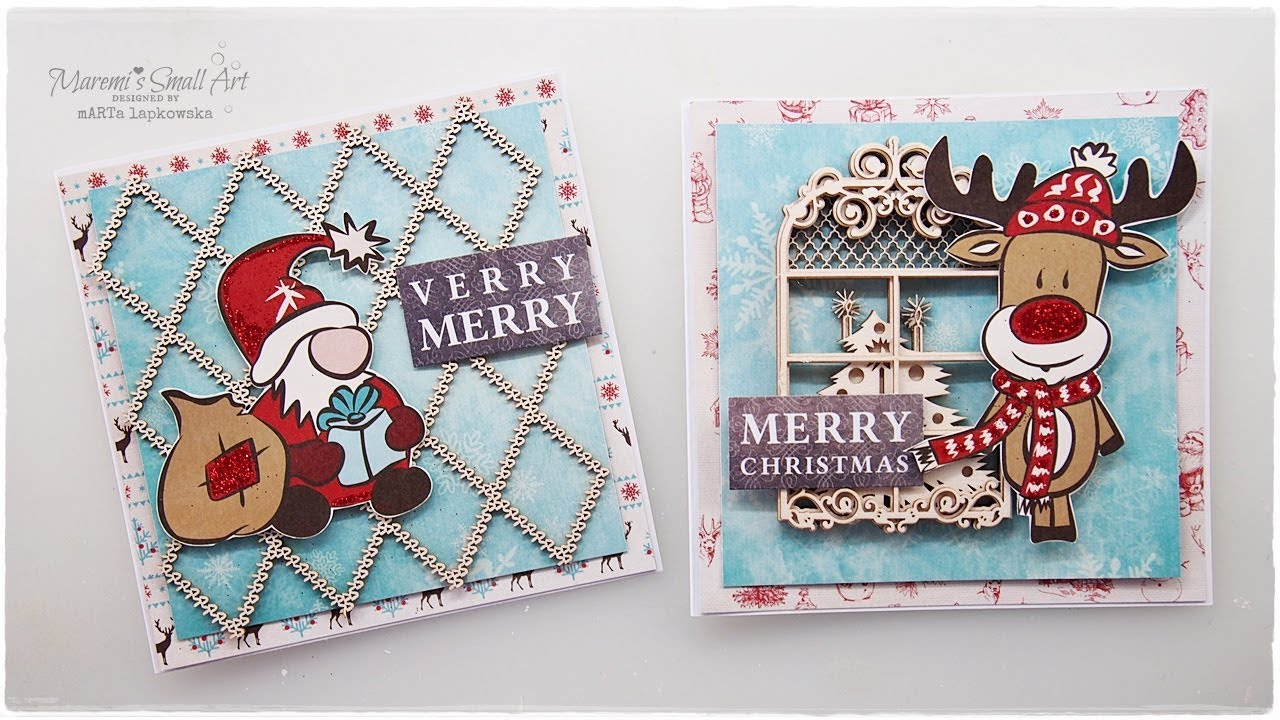 Less is More? Cute and Easy Christmas Cards ♡ Maremi\'s Small Art ...