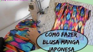 Como fazer blusa manga Japonesa
