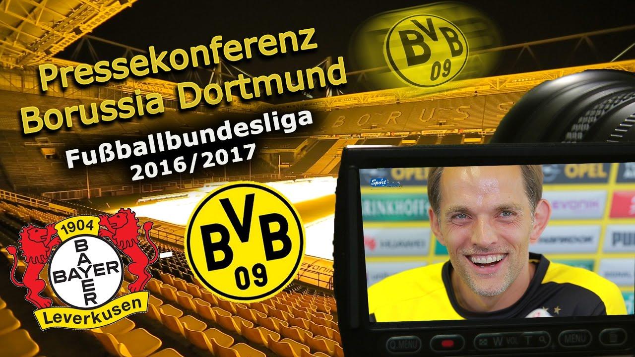 Bayer 04 Leverkusen - Borussia Dortmund: PK mit Thomas Tuchel