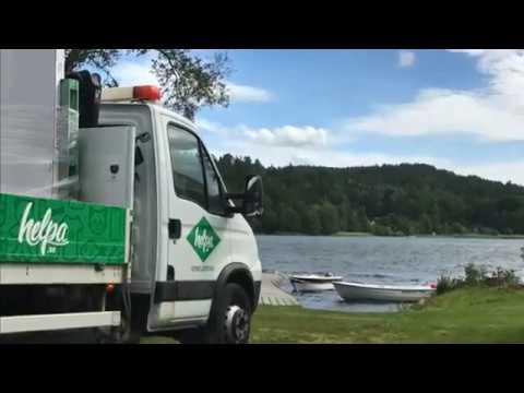 Helpa levererar varor åt K Rautas kunder i Gränna!