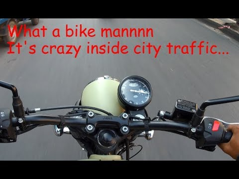 JAWA 42 IS CRAZY INSIDE THE CITY TRAFFIC - TEST RIDE REVIEW OF JAWA 42
