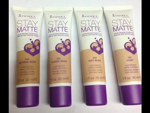 Rimmel Stay Matte Foundation review - YouTube