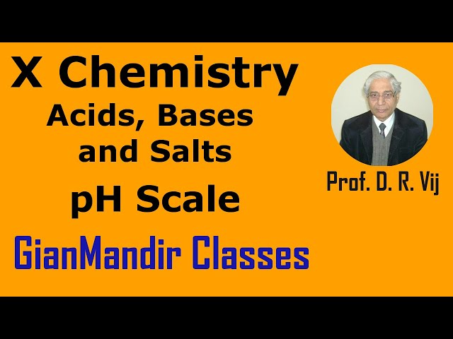 X Chemistry | Acids, Bases and Salts | pH Scale by Gaurav Sir