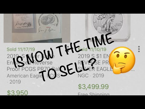 Is Now The Time To Sell? (American Eagle 2019 One Ounce Silver Enhanced Reverse Proof Coin)
