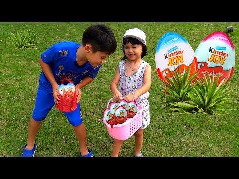 Kinder Joy Surprise Egg Hunt - Main Petak Umpet di Taman