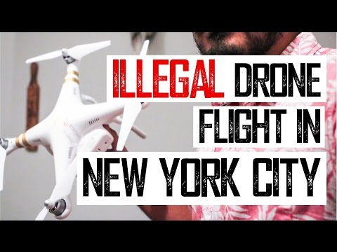 illegal drone flight in New York City