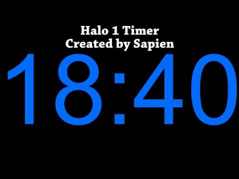 Sapien's Halo 1 Timer (Audible and Visual)