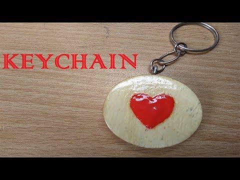 How to make DIY. Secret heart keychain wooden - Self Creation Stuff