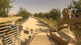 US Army Sappers conduct route clearance with MRAP in Kakarak, Afghanistan