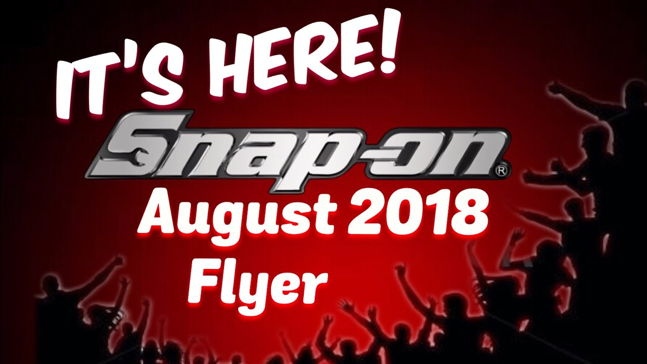Snap On Tools August 2018 Flyer