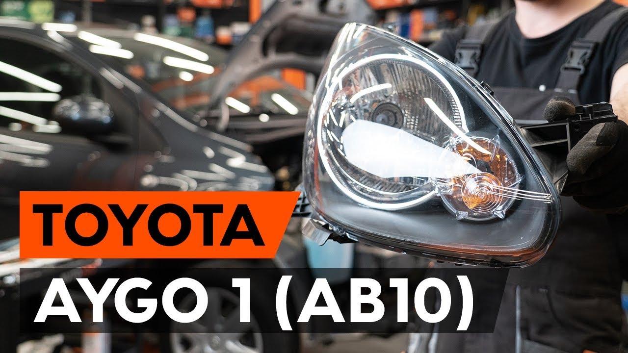 Wie Toyota Aygo 1 Ab10 Frontscheinwerfer Hauptscheinwerfer Wechseln Autodoc Tutorial Youtube