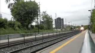 Amtrak, Toronto bound; CN VIA, West-bound; and GO trains at Longbranch jun7,2013