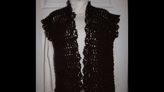 Crochet Chaleco o cardigan - con Ruby Stedman