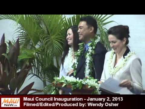 Maui Council Inauguration 2013