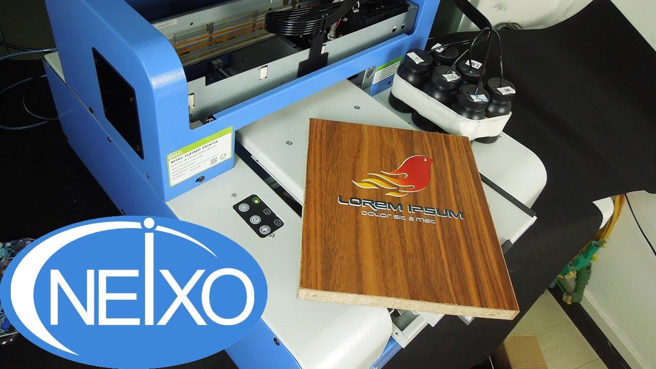 Uv Printer For Diy Printing On Mdf Wood Board Youtube