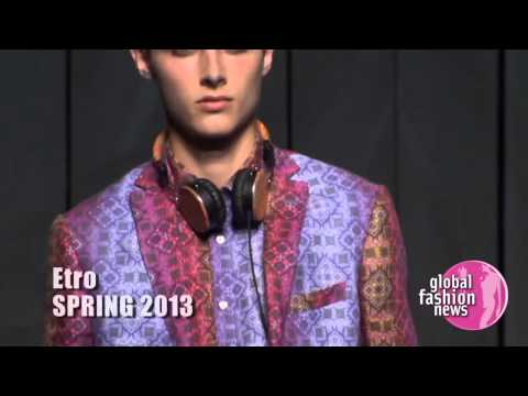 Etro Spring / Summer 2013 Men's Runway Show | Global Fashion News